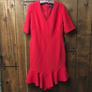 Maggy London red dress size 10 NWT
